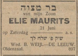 19300613 NIW Elie  barMitzw