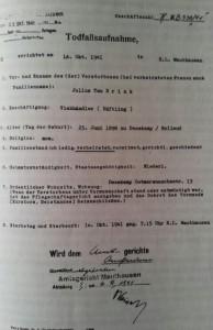 DoodverklaringMauthausen 14 oktober 1941
