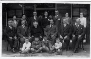 Familieportret Ten Brink, Denekamp 1930