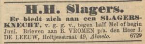 NIW 1 mei 1908