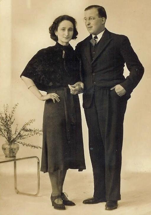 Mimi de Leeuw & Heinz Löwenhardt Almelo, mei 1938, verlovingsfoto